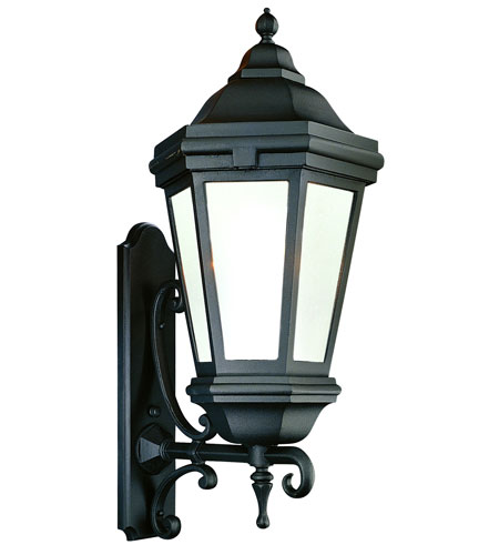 Troy Lighting Verona 1 Light Outdoor Wall Lantern Fluorescent in Matte Black BFCD6834MB photo