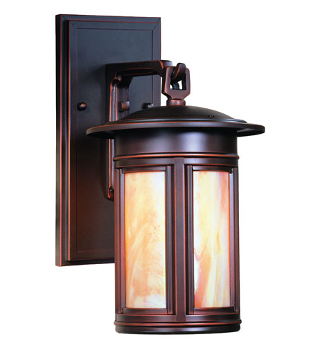 Troy Lighting Highland Park 1 Light Outdoor Wall Lantern Fluorescent in Oil Rubbed Bronze BFIH6914OB photo