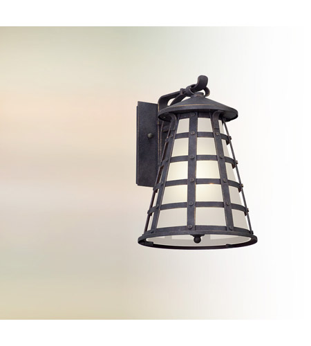 Troy Lighting BL5162 Benjamin LED 14 inch Vintage Iron Outdoor Wall Lantern photo