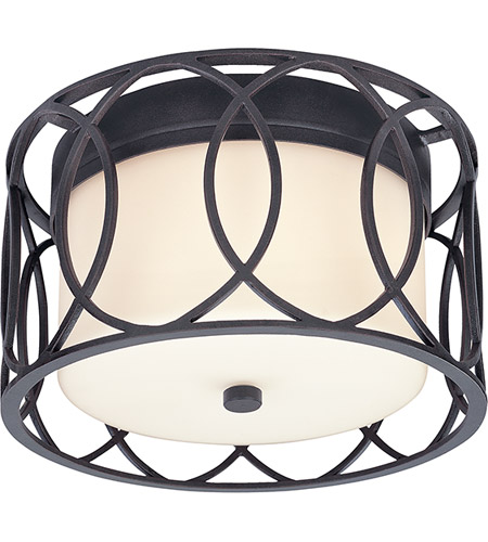 Troy Lighting C1280DB Sausalito 2 Light 12 inch Deep Bronze Flush Mount Ceiling Light photo