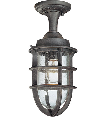 Troy Lighting Wilimington 1 Light Outdoor Semi-Flush in Nautical Rust C1864NR photo