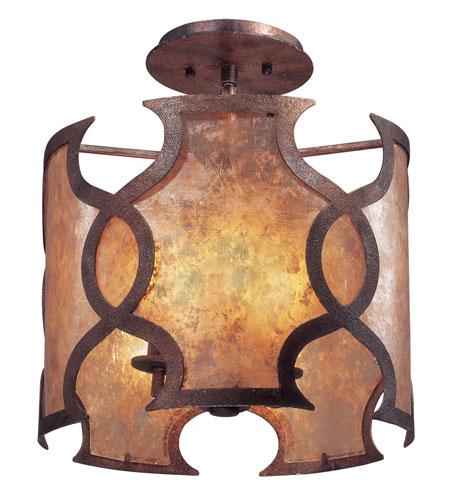 Troy Lighting Mandarin 3 Light Ceiling Semi-Flush in Mandarin Copper C2590 photo