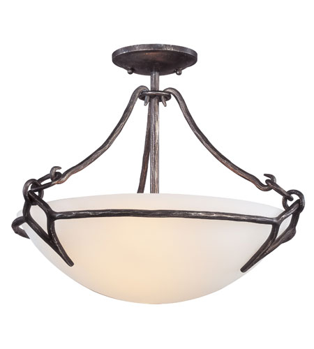 Troy Lighting C2670 Pompeii 2 Light 18 inch Pompeii Silver Semi-Flush Ceiling Light in Incandescent photo