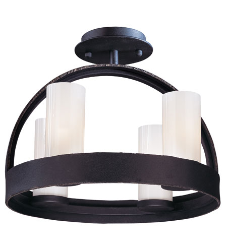 Troy Lighting Eclipse 4 Light Ceiling Semi-Flush in Federal Bronze C2800 photo