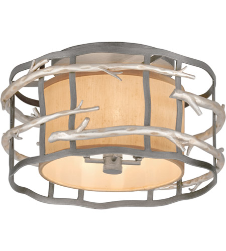 Troy Lighting C2881 Adirondack 4 Light 18 inch Graphite And Silver Semi-Flush Ceiling Light photo