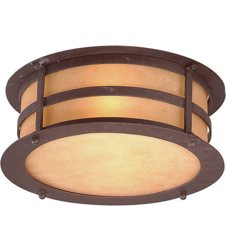 Troy Lighting Aspen 2 Light Outdoor Flush Mount in Natural Bronze C9251NB photo