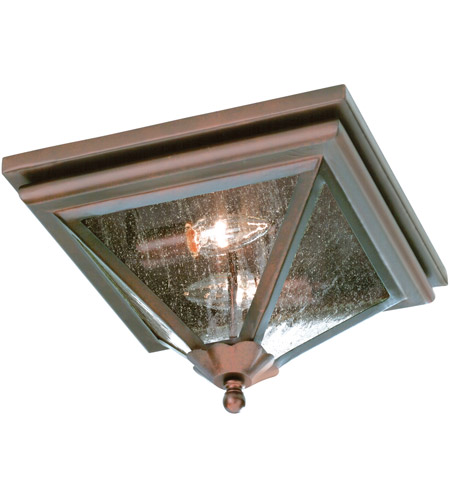 Troy Lighting Geneva 2 Light Outdoor Flush Mount in Old Rust CCD8990OR photo