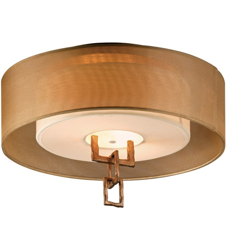 Troy Lighting CF2870 Link 2 Light 18 inch Bronze Leaf Semi-Flush Fluorescent Ceiling Light photo