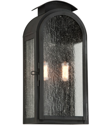 Troy Lighting B4402CI Copley Square 2 Light 18 inch Charred Iron Outdoor Wall Sconce in Incandescent photo