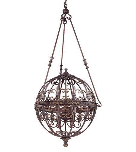 Troy Lighting La Paloma 9 Light Entry Chandelier in Venetian Bronze F1105VB photo