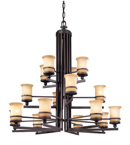 Troy Lighting Ranier 16 Light Chandelier in Natural Rust F1232NR photo