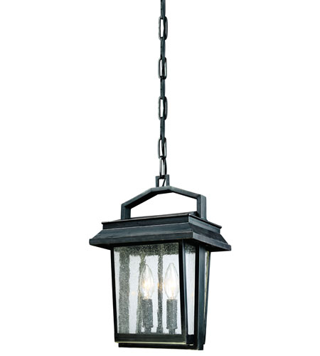 Troy Lighting F1247OBZ Logan 2 Light 10 inch Old Bronze Outdoor Hanging Lantern photo