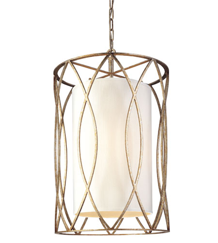 Troy Lighting F1284SG Sausalito 4 Light 18 inch Silver Gold Pendant Ceiling Light photo