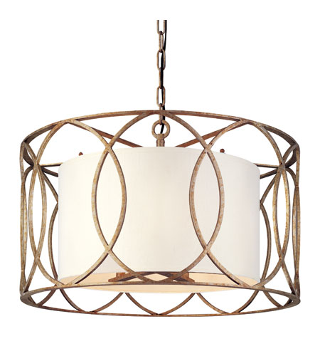 Troy Lighting F1285SG Sausalito 5 Light 25 inch Silver Gold Chandelier Ceiling Light  photo