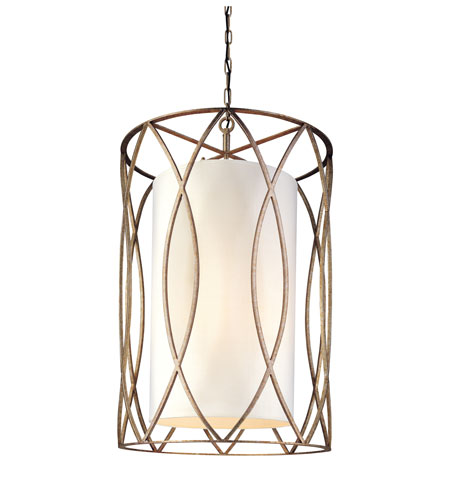 Troy Lighting F1288SG Sausalito 8 Light 22 inch Silver Gold Pendant Ceiling Light photo