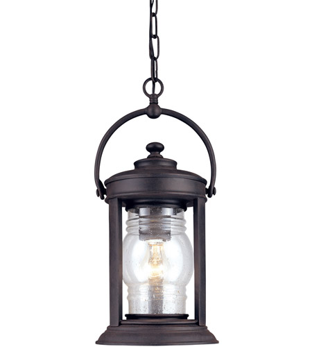 Troy Lighting Station Square 1 Light Outdoor Hanging Lantern in Natural Rust F1417NR photo