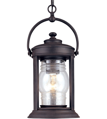 Troy Lighting Station Square 1 Light Outdoor Hanging Lantern in Natural Rust F1418NR photo
