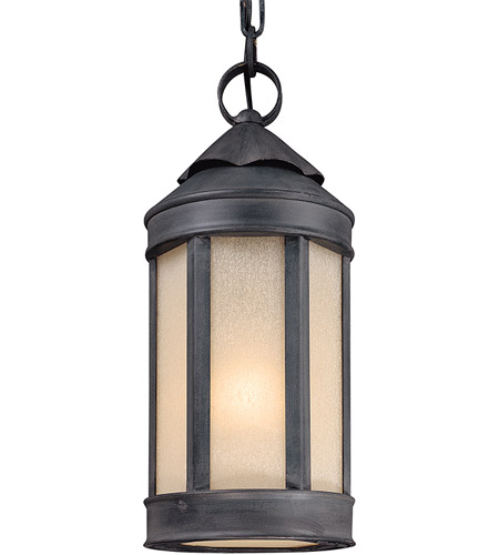 Troy Lighting F1467AI Andersons Forge 1 Light 7 inch Aged Iron Outdoor Hanging Lantern photo