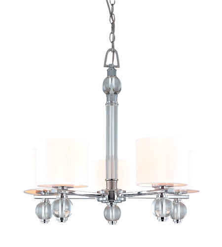 Troy Lighting F1585PC Bentley 5 Light 26 inch Polish Chrome Chandelier Ceiling Light photo