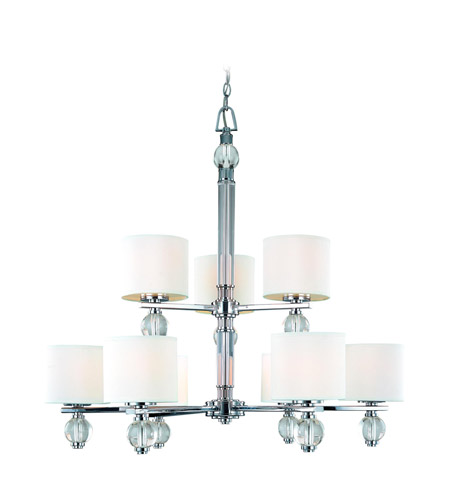 Troy Lighting F1589PC Bentley 9 Light 35 inch Polish Chrome Chandelier Ceiling Light photo