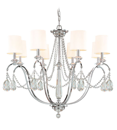 Troy Lighting Fountainbleau 8 Light Chandelier in Polish Chrome F1648PC photo