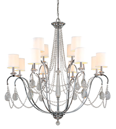 Troy Lighting Fountainbleau 12 Light Chandelier in Polish Chrome F1649PC photo