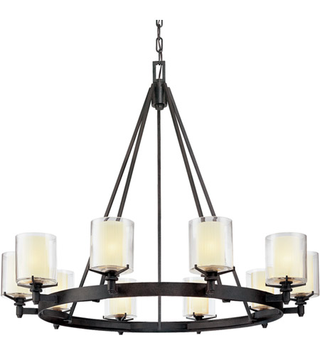 Troy Lighting F1710FR Arcadia 10 Light 40 inch French Iron Chandelier Ceiling Light photo