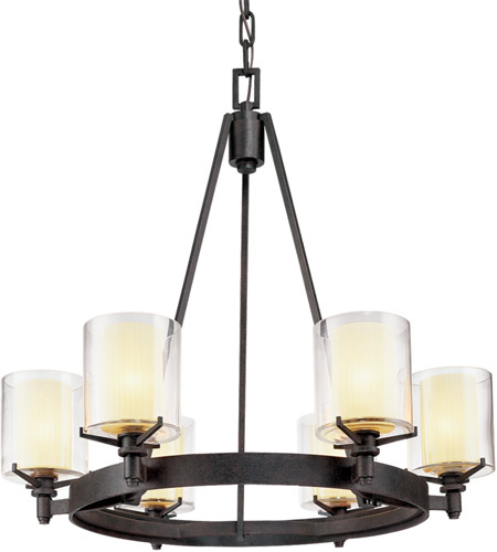 Troy Lighting F1716FR Arcadia 6 Light 27 inch French Iron Chandelier Ceiling Light  photo