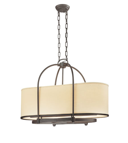 Troy Lighting F1805FBZ Redmond 4 Light 31 inch Federal Bronze Island Ceiling Light in Incandescent photo