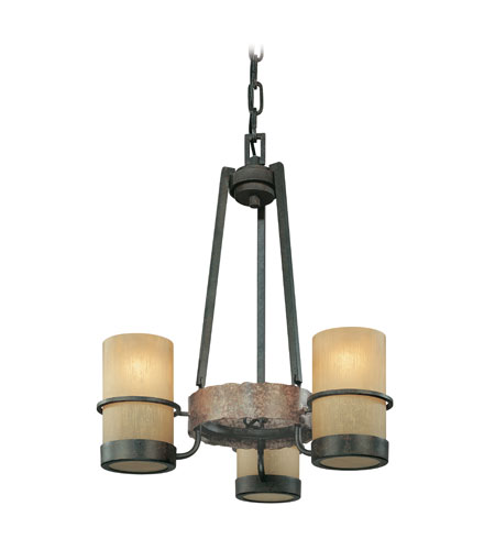 Troy Lighting F1845BB Bamboo 3 Light 18 inch Bamboo Bronze Chandelier Ceiling Light photo