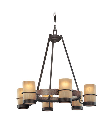 Troy Lighting F1846BB Bamboo 6 Light 28 inch Bamboo Bronze Chandelier Ceiling Light photo