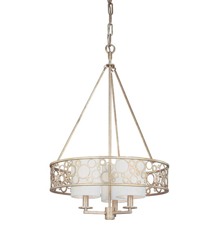 Troy Lighting Aqua 3 Light Chandelier in Silver Gold F1903SG photo