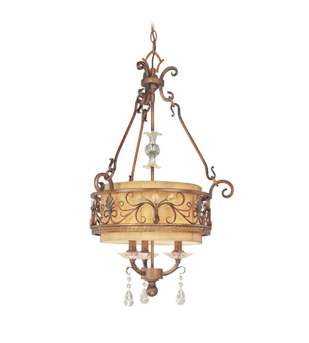 Troy Lighting Heirloom 3 Light Chandelier in Sunset Bronze F1953SBZ photo