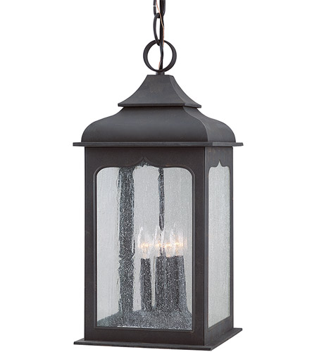 Troy Lighting Henry Street 4 Light Outdoor Hanging Lantern in Colonial Iron F2018CI photo