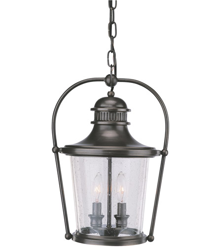 Troy Lighting Guild Hall 2 Light Outdoor Hanging Lantern in English Bronze F2037EB photo