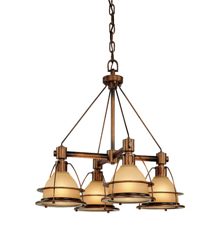 Troy Lighting F2054SBZ Bristol Bay 4 Light 26 inch Sunset Bronze Chandelier Ceiling Light photo