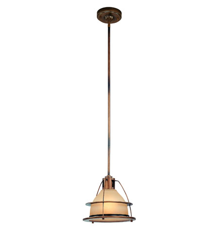 Troy Lighting F2057SBZ Bristol Bay 1 Light 11 inch Sunset Bronze Pendant Ceiling Light in Incandescent photo