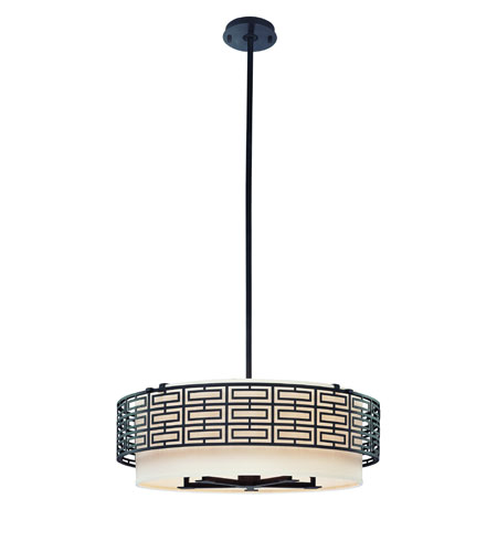 Troy Amsterdam 5Lt Pendant Medium Ceiling Mount Pendant In Federal Bronze F2148FBZ photo