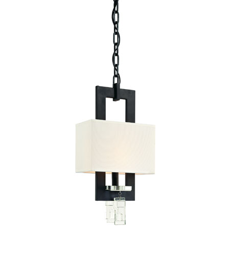 Troy Avanti 1Lt Pendant Mini Ceiling Mount Pendant In Anthracite And Cryst F2175ATR photo