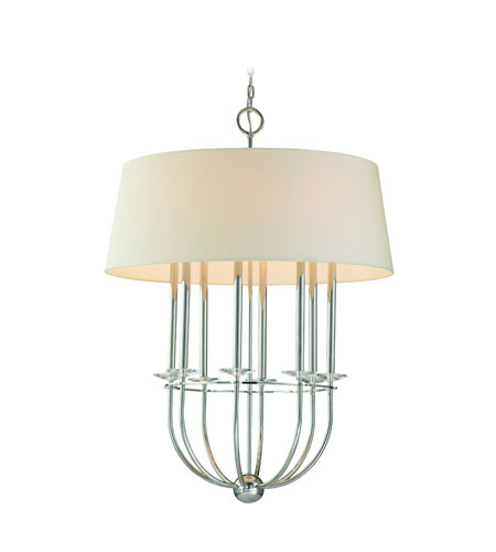 Troy Lighting Porter 8 Light Pendant in Polished Nickel F2188PN photo