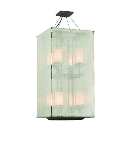Troy Lighting Raffia 8 Light Pendant Entry in Weathered Bark F2206WB photo