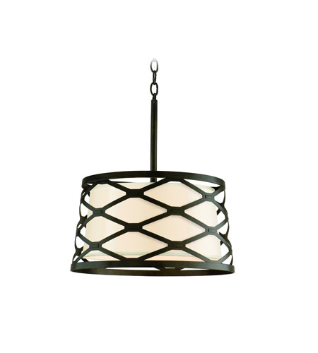 Troy Lighting Helix 6 Light Pendant Dining in Modern Bronze F2217MB photo