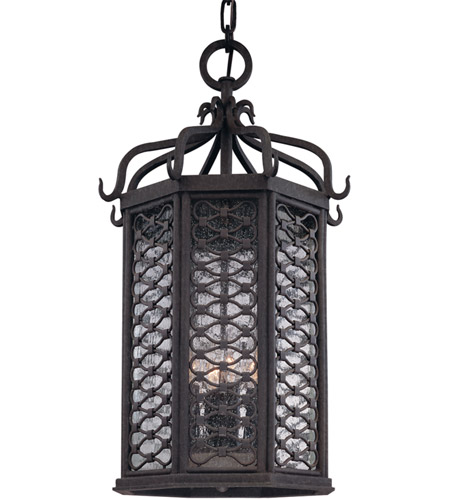 Troy Lighting Los Olivos 4 Light Outdoor Hanger in Old Iron F2378OI photo
