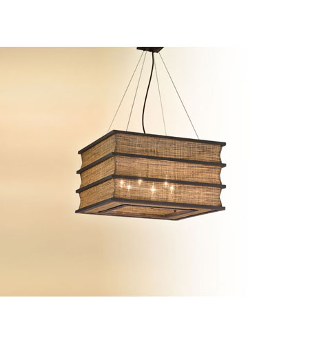 Troy Lighting Bento 6 Light Pendant Dining in Natural Wood F2394 photo
