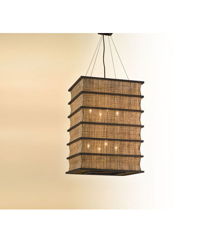 Troy Lighting Bento 8 Light Pendant Entry in Natural Wood F2396 photo