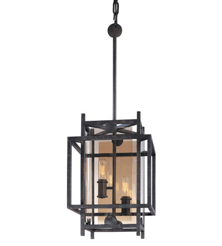 Troy Lighting F2492FI Crosby 2 Light 11 inch French Iron Pendant Ceiling Light photo
