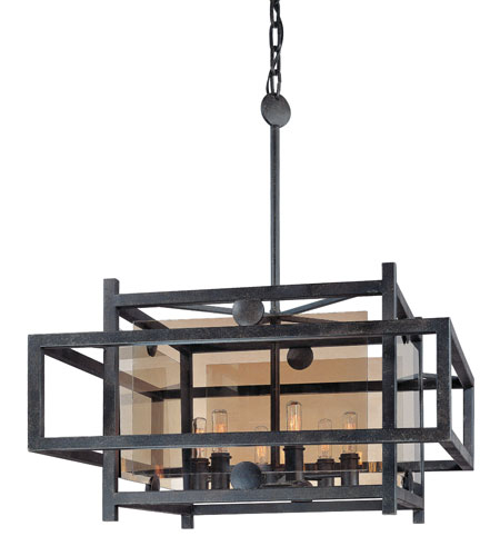 Troy Lighting F2496FI Crosby 6 Light 25 inch French Iron Pendant Dining Ceiling Light photo