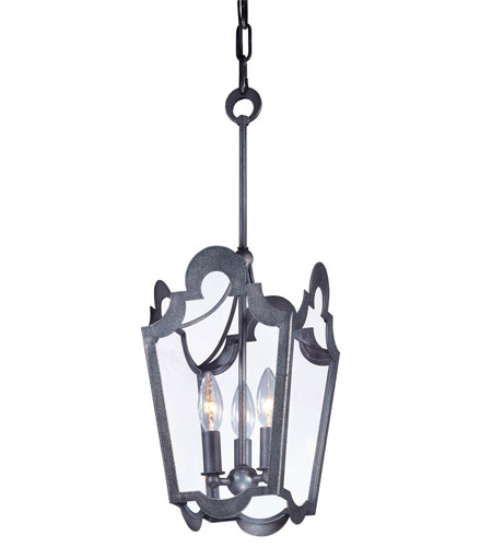 Troy Lighting Rhodes 3 Light Pendant in Old Silver F2573 photo