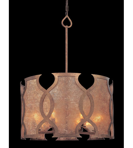 Troy Lighting Mandarin 8 Light Pendant Dining in Mandarin Copper F2595 photo
