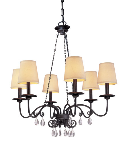 Troy Lighting La Rochelle 6 Light Chandelier in La Rochelle Bronze F2656 photo